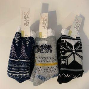 Gilligan & O'malley Holiday Fuzzy Socks Med 4-10